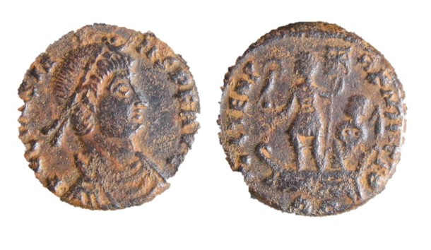 coin, found at Claydon Pike