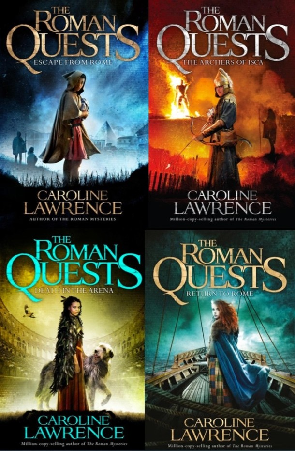 The Roman Quests books by Caroline Lawrence