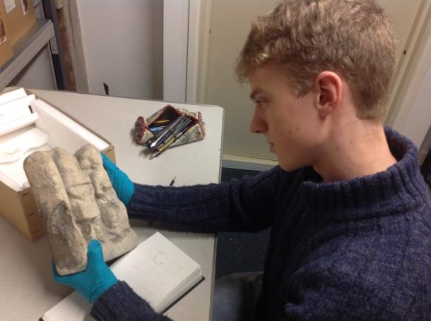 Luke volunteering at Corinium Museum