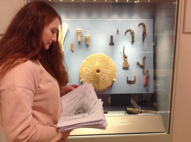 Niamh volunteering at Corinum Museum